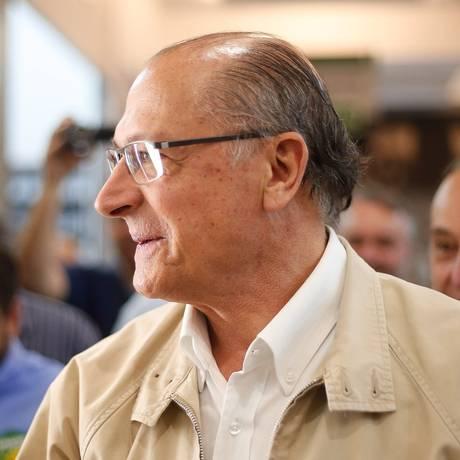 Geraldo Alckmin (PSDB), durante agenda em São Paulo Foto: Marcos Alves / Agência O Globo (18/09/2018)