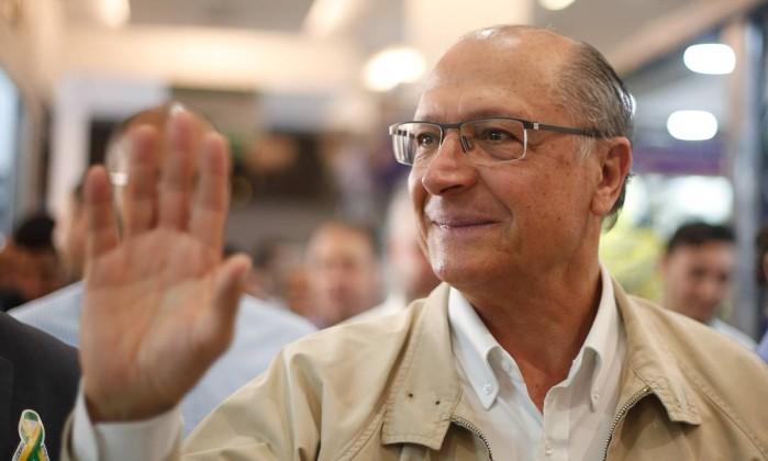 Candidato do PSDB, Geraldo Alckmin Foto: Marcos Alves / Agência O Globo