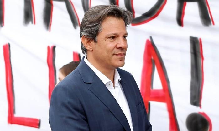O candidato Fernando Haddad Foto: Rodolfo Buhrer / Reuters