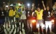 Apoiadores de Jair Bolsonaro em Aparecida Foto: Marcos Alves / Agência O Globo