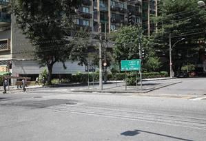 Rotatória ajudaria a desafogar o trânsito Foto: Bárbara Lopes