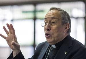 O cardeal hondurenho Óscar Maradiaga, um dos principais assessores do Papa Foto: Edilson Dantas / Agência O Globo