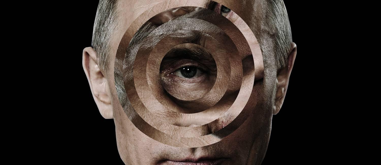 Governo russo é acusado de comandar interferência na eleição presidencial de 2016, e contribuir diretamente para a eleição de Donald Trump Foto: ILLUSTRATION BY MATTHIEU BOUREL; PHOTOGRAPH BY THE KREMLIN / NYT