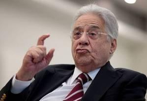 O ex-presidente Fernando Henrique Cardoso foi alvo de 17 pedidos de impedimento Foto: Pedro Kirilos / Agência O Globo