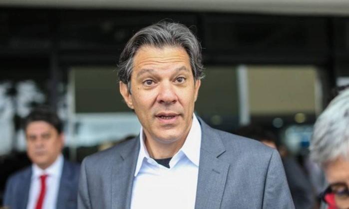O candidato do PT a presidente, Fernando Haddad Foto: AGB Geraldo Bubniak / Agência O Globo