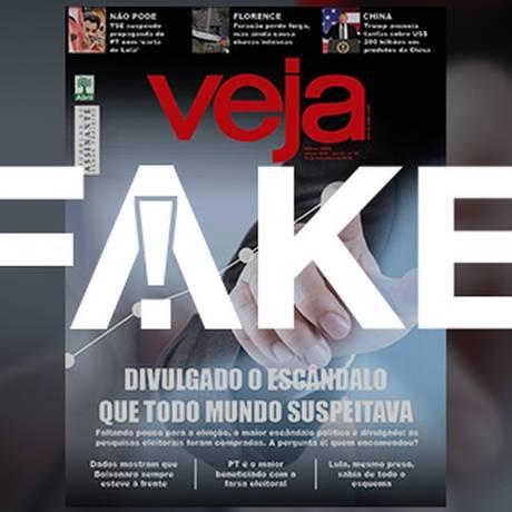 Capa falsa da revista