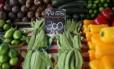 Verduras em feira de rua no Rio de Janeiro. Alimentos tiveram queda de 0,70% Foto: Reuters