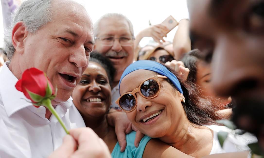 Em campanha, Ciro tenta se posicionar como alternativa ao bolsonarismo e lulismo que dominaram as últimas pesquisas de intenção de voto Nacho Doce / Reuters