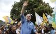 Ciro Gomes faz atividade de campanha no Distrito Federal Foto: Jorge William/Agência O Globo