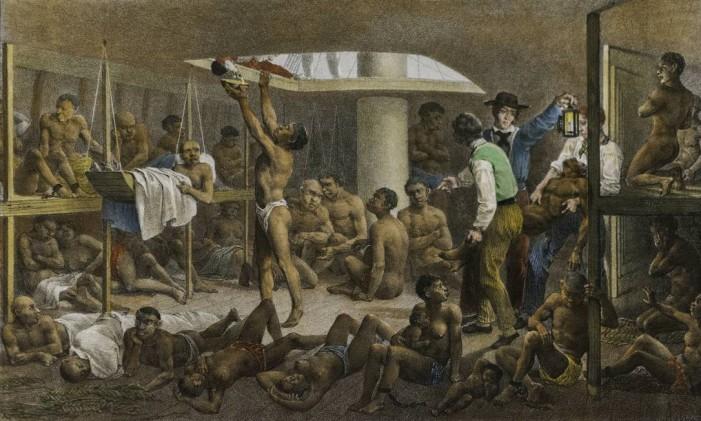 """""""Navio negreiro"""" (1830), de Rugendas Foto: Reprodução"""