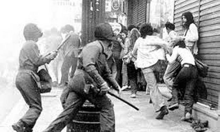 Repressão na ditadura Foto: Reprodução