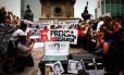 Manifestantes protestam contra o assassinato de jornalistas no México Foto: El Universal/GDA/2015