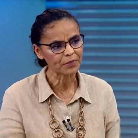 Marina Silva (Rede) em entrevista no Jornal da Globo Foto: Reprodução/TV Globo