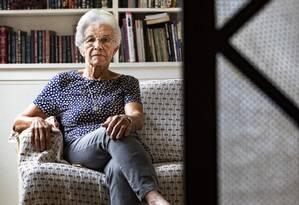 Espera. Aos 84 anos, Mathilde Teixeira, poupadora do Bamerindus, se diz frustrada com a negativa da sua indenização Foto: Ana Branco