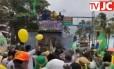 Caminhada pró-Bolsonaro em que música ofensiva foi cantada Foto: Reprodução / YouTube / JC Online