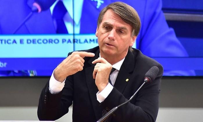 Jair Bolsonaro Foto: Zeca Ribeiro / Agência Câmara