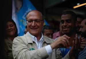 Alckmin vê popularidade em queda Foto: Marcos Alves / Agência O Globo