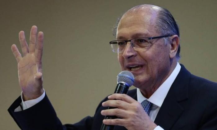 Geraldo Alckmin, candidato do PSDB ao Planalto Foto: Jorge William / Agência O Globo