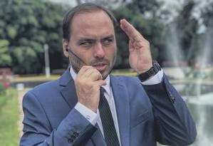 O vereador Carlos Bolsonaro Foto: Reprodução / Reprodução