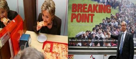 Hillary Clinton e Nigel Farange Foto: Reprodução