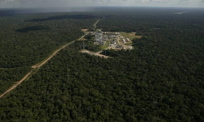 Unidade de produção da Petrobras em Urucu (AM) Foto: Agência Brasil