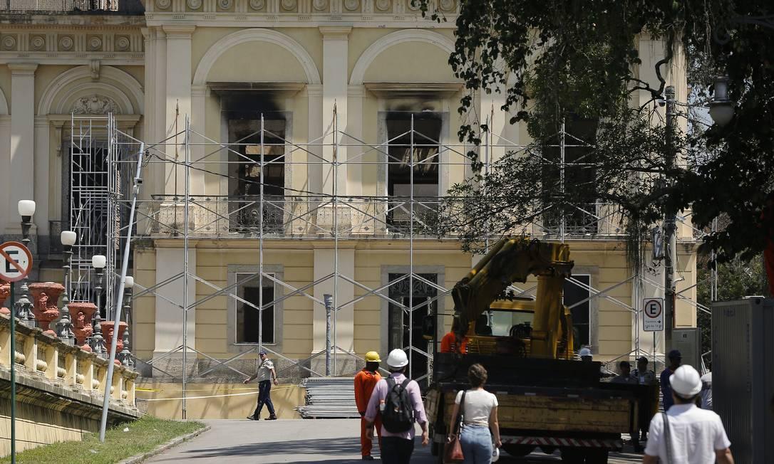 Museu Nacional: obras emergenciais já começaram Foto: Pablo Jacob / Agência O Globo