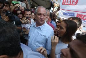 Candidato Ciro Gomes (PDT) no Rio Foto: Custódio Coimbra / Agência O Globo