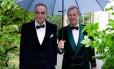 Lorde Ivar Mountbatten (direita) tornou-se o primeiro membro da família real britânica a ter um casamento gay Foto: Divulgação