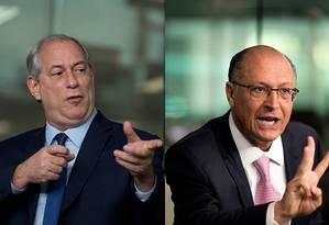 Os candidatos Ciro Gomes e Geraldo Alckmin Foto: Márcia Foletto / Agência O Globo