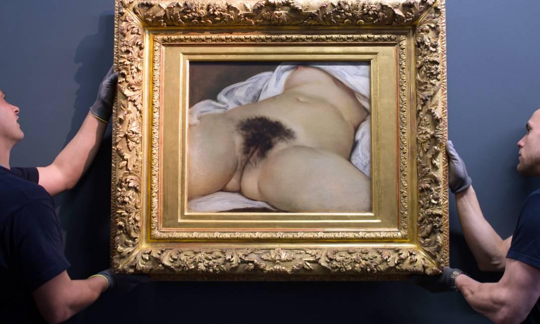 """O quadro """"L'origine du monde"""" (A origem do mundo) foi pintada em 1866 por Gustave Courbet Foto: SEBASTIEN BOZON / AFP"""