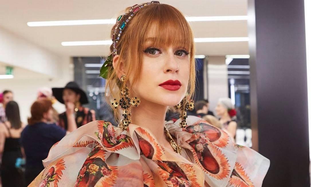 Marina Ruy Barbosa no backstage do desfile da Dolce & Gabbana Foto: Divulgação/ Dolce & Gabbana