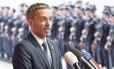 Ministro do Interior austríaco, Herbert Kickl, foi acusado de apoiar e-mail de instituição contra imprensa Foto: HANS PUNZ / AFP