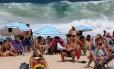 Praia na Zona Sul do Rio de Janeiro Foto: Custódio Coimbra / Agência O Globo