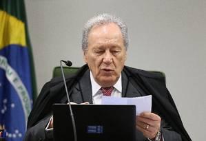 O ministro Ricardo Lewandowski, durante sessão da Segunda Turma Foto: Ailton de Freitas / Agência O Globo