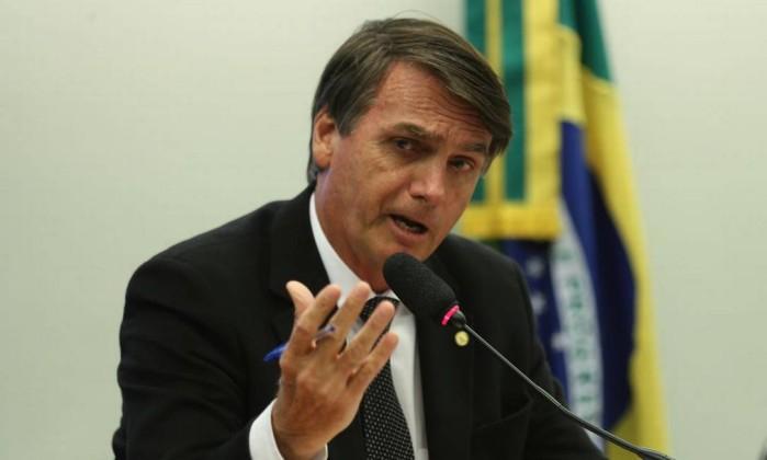 Jair Bolsonaro quando atuou no Conselho de Ética da Câmara, em 2016 Foto: Fabio Rodrigues Pozzebom / Agência Brasil
