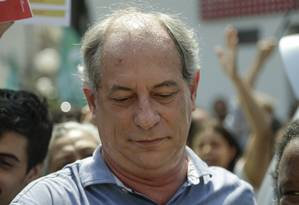 Ciro Gomes participa de atividade de campanha em Duque de Caxias Foto: Gabriel de Paiva / Agência O Globo