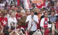 Fernando Haddad realiza atividade de campanha em Campinas Foto: Marcos Alves/Agência O Globo