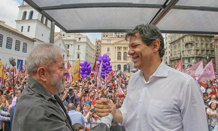 Lula e o candidato do PT ao Planalto, Fernando Haddad Foto: Ricardo Stuckert / Agência PT