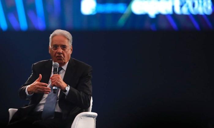 Fernando Henrique Cardoso, ex-presidente do Brasil Foto: Marcelo Chello / Agência O Globo