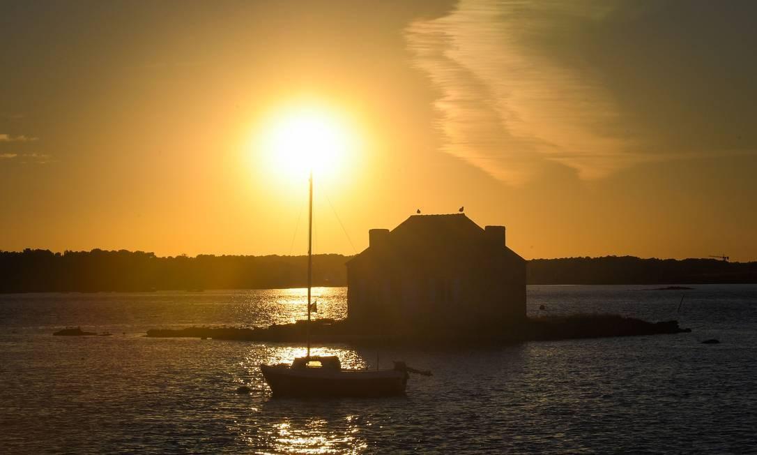Ilha fora de Saint-Cado em Belz, França ocidental. Foto: LOIC VENANCE / AFP