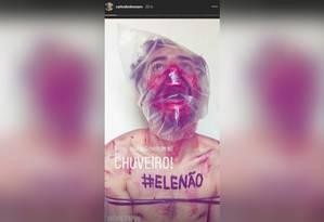 Imagem replicada pelo vereador em rede social Foto: Reprodução/Instagram de Carlos Bolsonaro