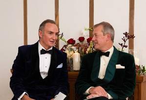 O Lorde Ivan Mountbatten e James Coyle, em seu casamento Foto: Reprodução / Instagram