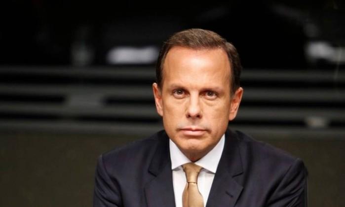 O candidato do PSDB ao governo de São Paulo, João Doria Foto: Edu Moraes / Rede Globo