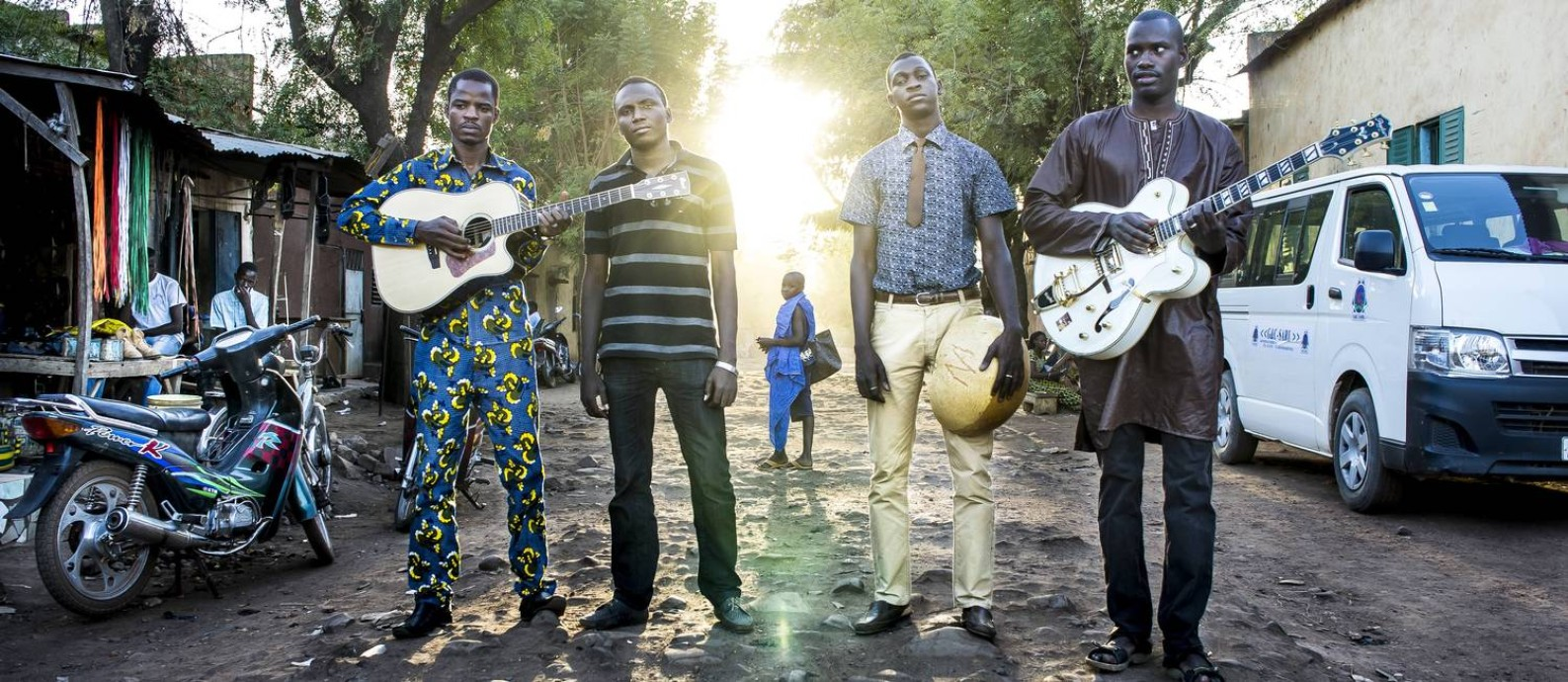 O grupo Songhoy Blues, do Mali, que se apresenta no MIMO em Paraty Foto: Andy Morgan / Divulgação