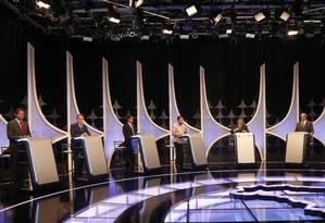 Debate entre candidatos à Presidência no SBT Foto: Marcos Alves / Agência O Globo