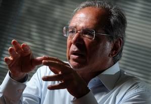 O economista Paulo Guedes, conselheiro econômico do candidato Jair Bolsonaro (PSL). Foto: Leo Pinheiro / Agência O Globo