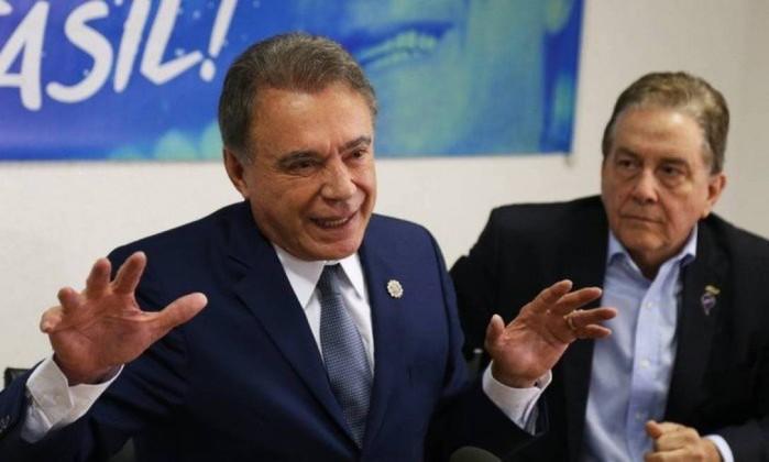 O candidato a presidente Álvaro Dias e seu vice, Paulo Rabello de Castro Foto: Givaldo Barbosa / Agência O Globo