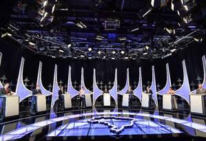Candidatos à Presidência participam de debate Foto: NELSON ALMEIDA / AFP