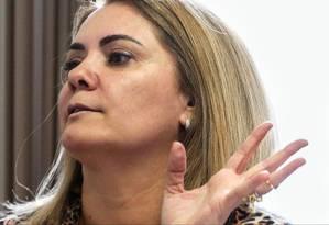 Em 2011, Ana Cristina Valle se disse ameaçada de morte por Bolsonaro; em 2018, adotou sobrenome do presidenciável e tenta ser eleita deputada com apoio dele Foto: Custódio Coimbra / Agência O Globo