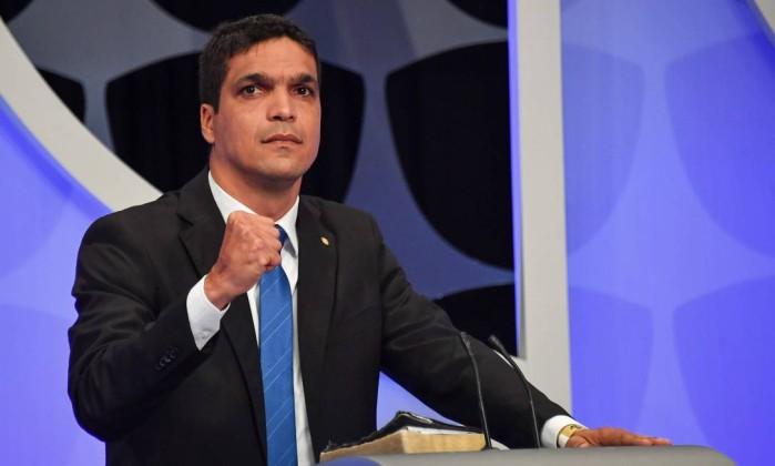 Cabo Daciolo no debate de presidenciáveis do SBT Foto: Nelson Almeida / AFP